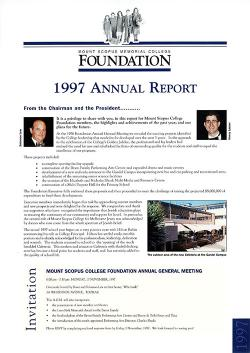MSC 1997 Foundation Annual Report 1