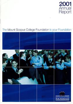 MSC 2001 Foundation Annual Report 1