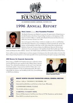 MSC 1996 Foundation Annual Report 1