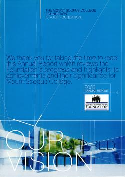 MSC 2000 Foundation Annual Report 1