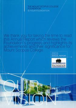 MSC 2003 Foundation Annual Report 1